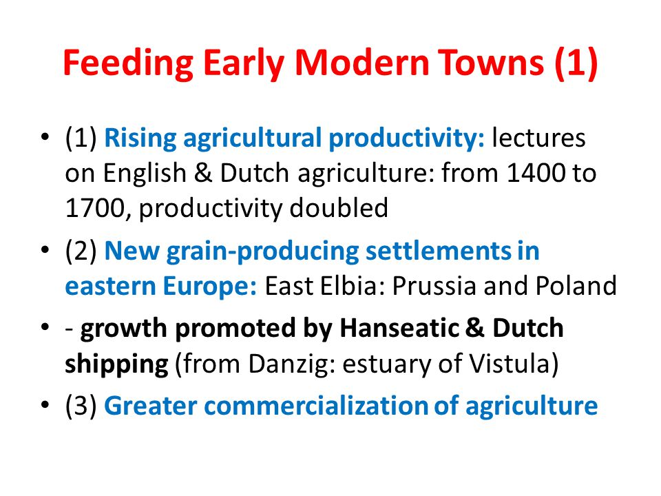 Feeding Early Modern Towns (1)