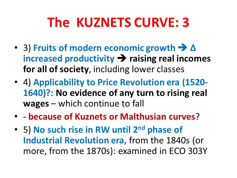 The KUZNETS CURVE: 3
