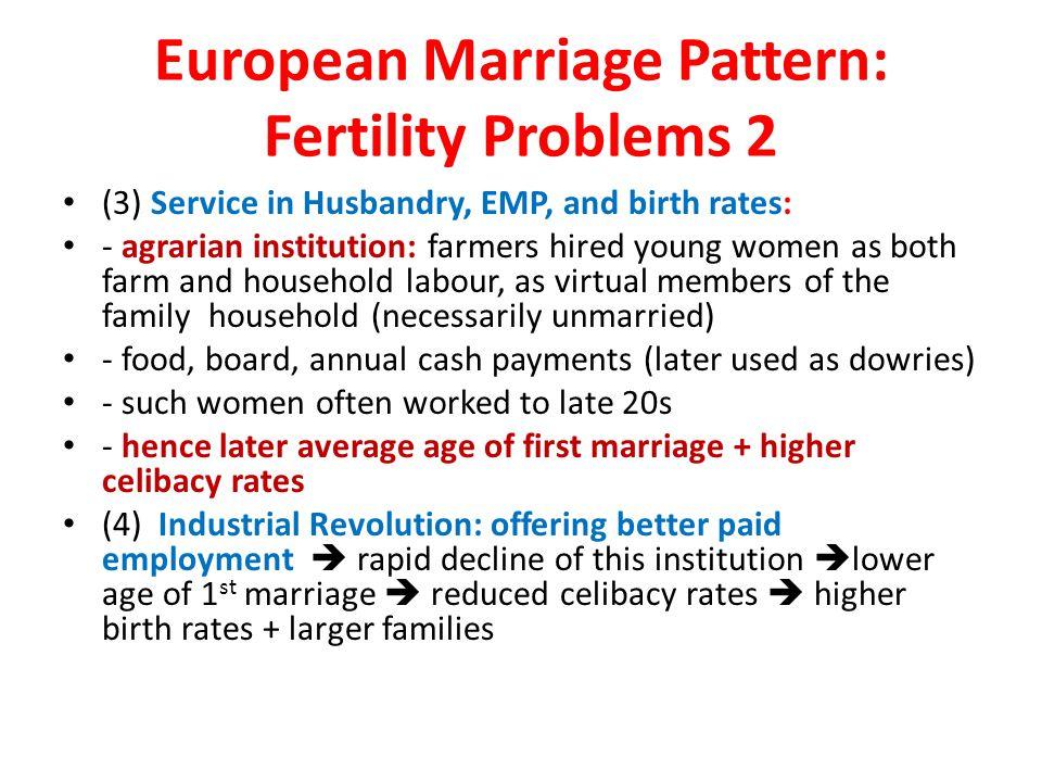 European Marriage Pattern: Fertility Problems 2