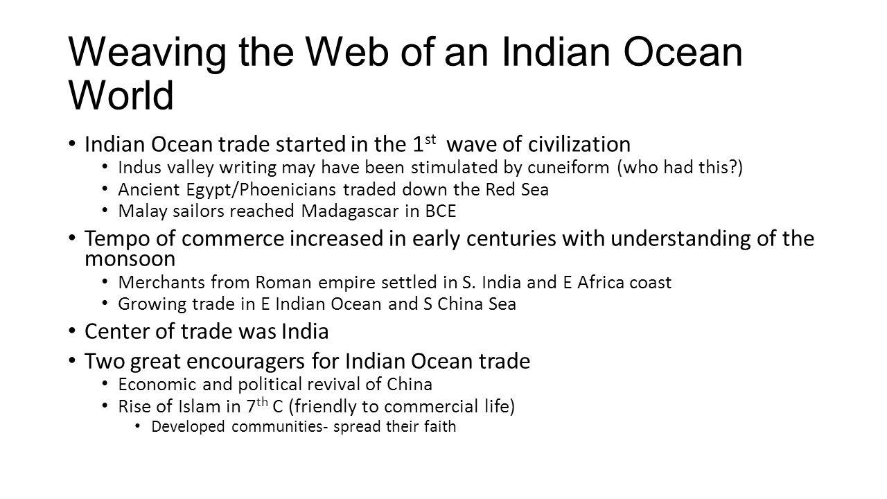 Weaving the Web of an Indian Ocean World
