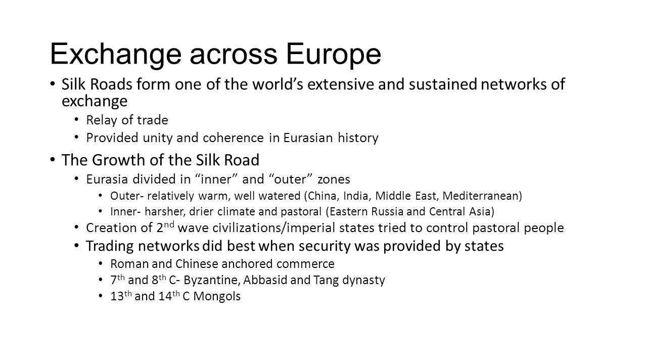 Exchange across Europe