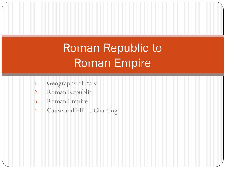 Roman Republic to Roman Empire