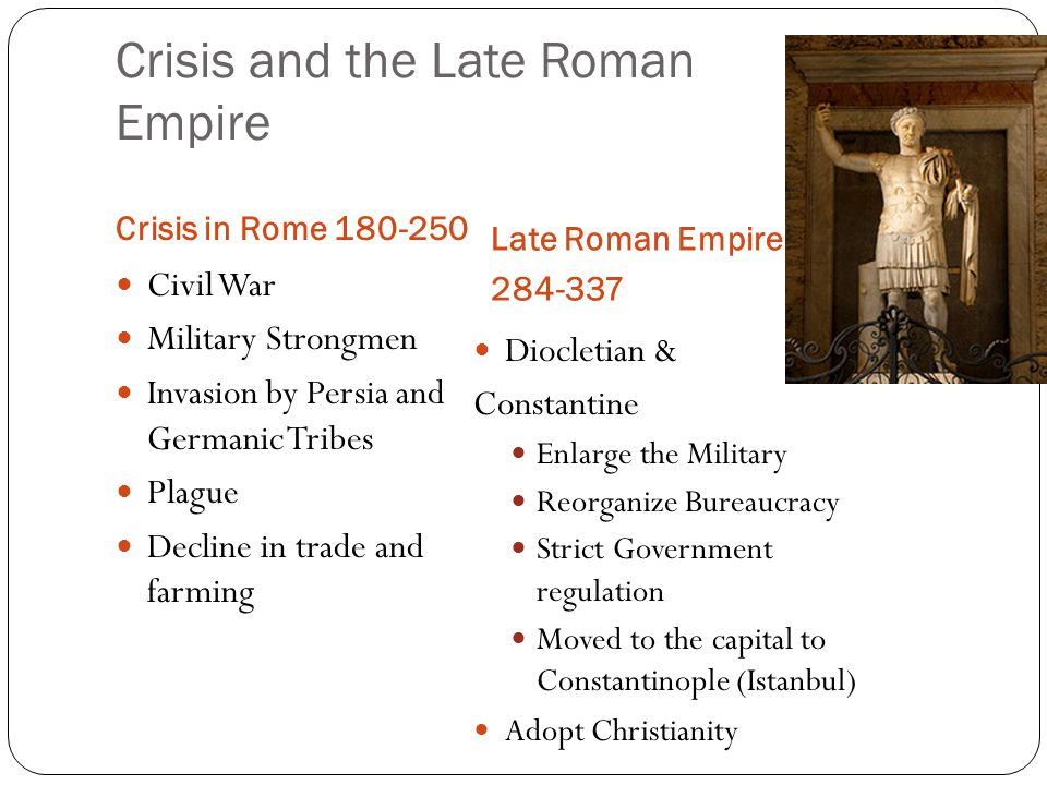 Crisis and the Late Roman Empire