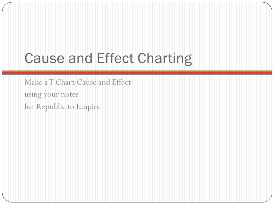 Cause and Effect Charting