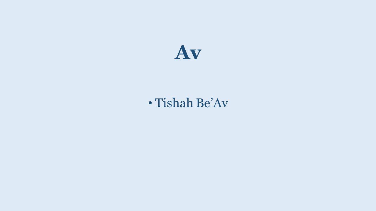 Av Tishah Be'Av