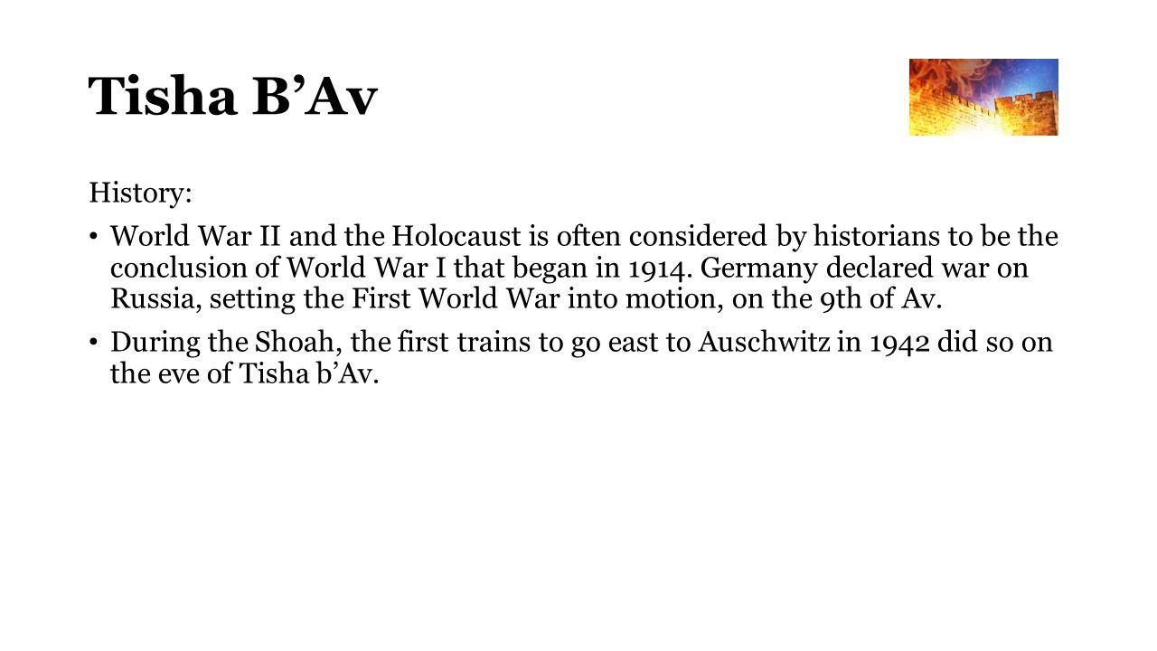 Tisha B'Av History: