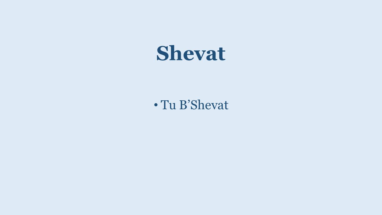 Shevat Tu B'Shevat