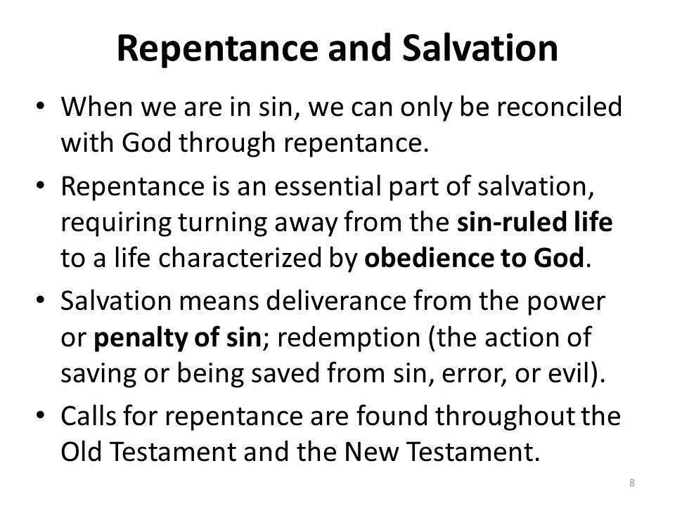 Repentance and Salvation