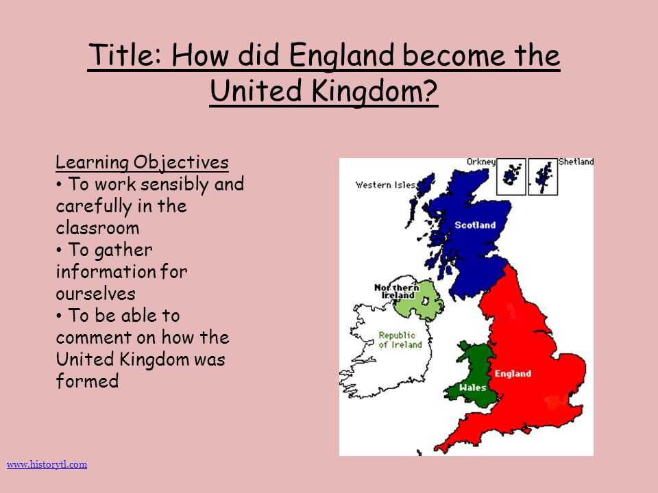 Title: How did England become the United Kingdom