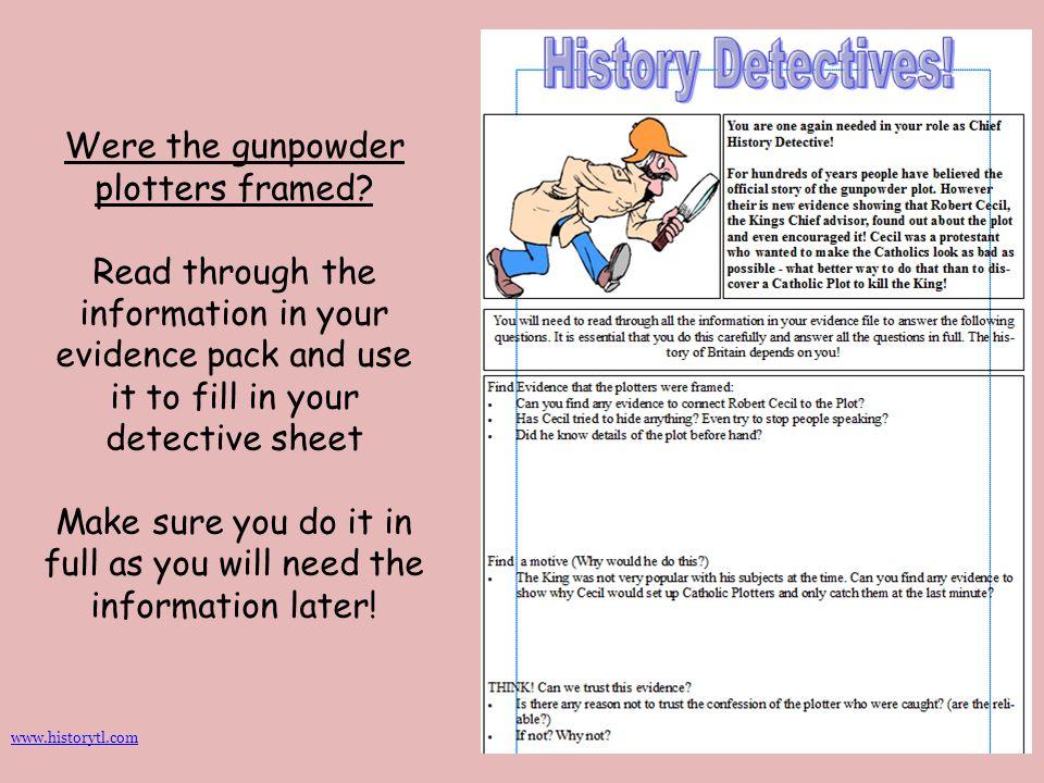 Were the gunpowder plotters framed