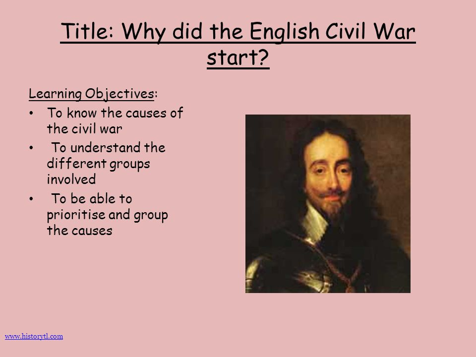 Title: Why did the English Civil War start
