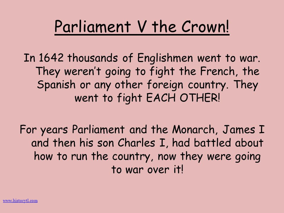 Parliament V the Crown!
