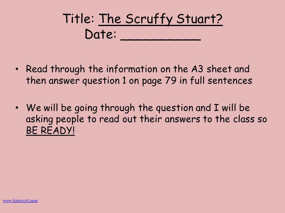 Title: The Scruffy Stuart Date: __________