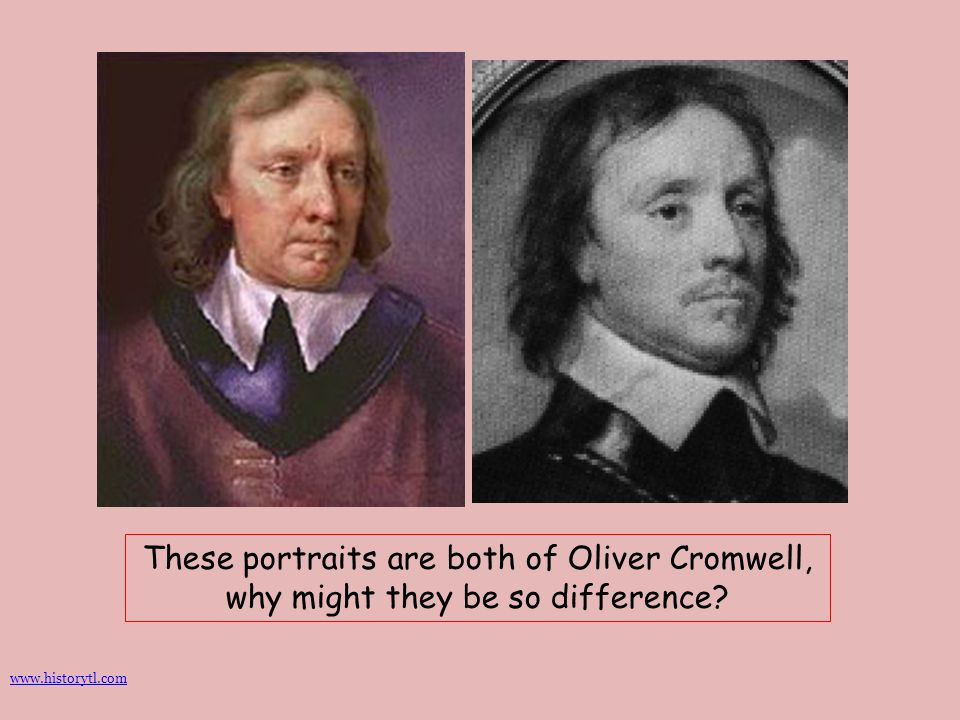 These portraits are both of Oliver Cromwell, why might they be so difference