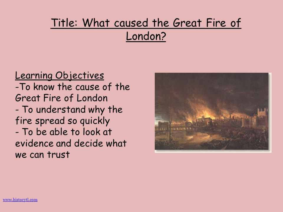 Title: What caused the Great Fire of London