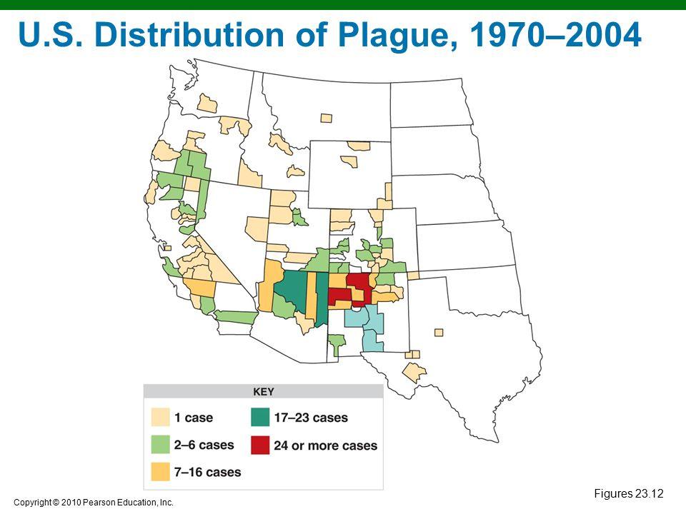 U.S. Distribution of Plague, 1970–2004