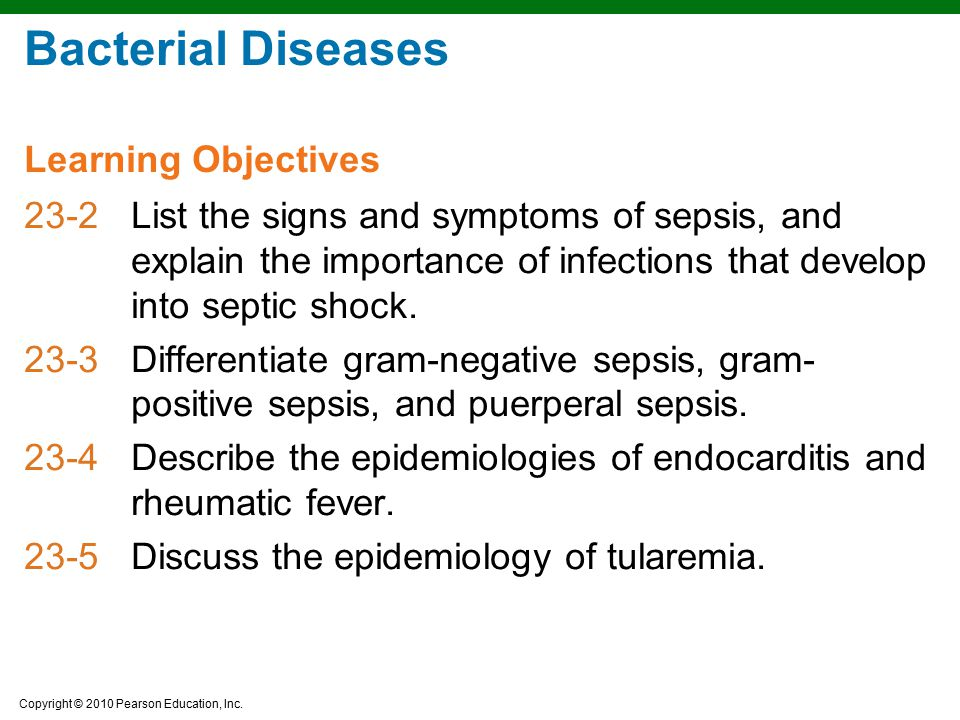 Bacterial Diseases Learning Objectives