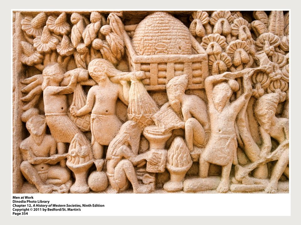 Men at Work (p. 354) 1. What are some of the activities depicted on the frieze