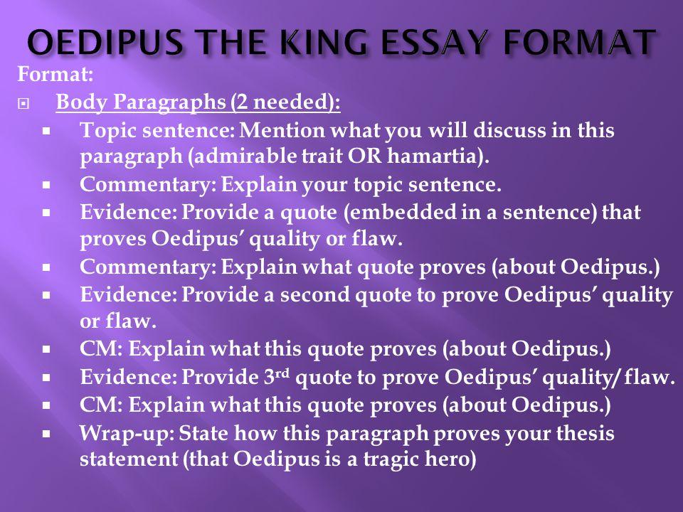 Tragic hero element oedipus thesis