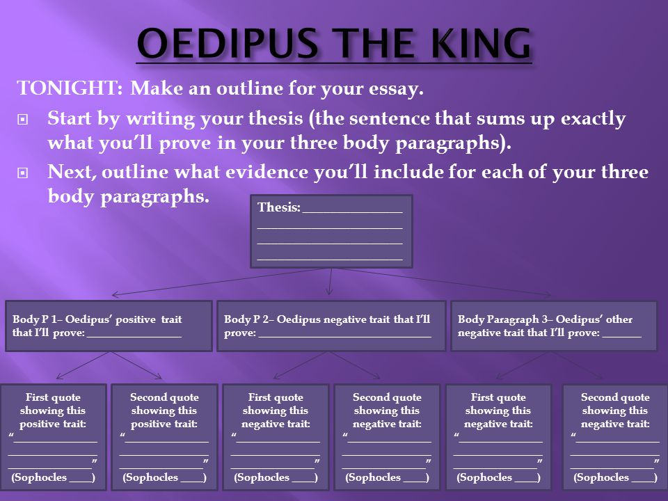 a five paragraph essay that shows how oedipus is a tragic hero A summary of themes in sophocles's the oedipus  suggested essay topics sample  is largely intended to make the audience painfully aware of the tragic.