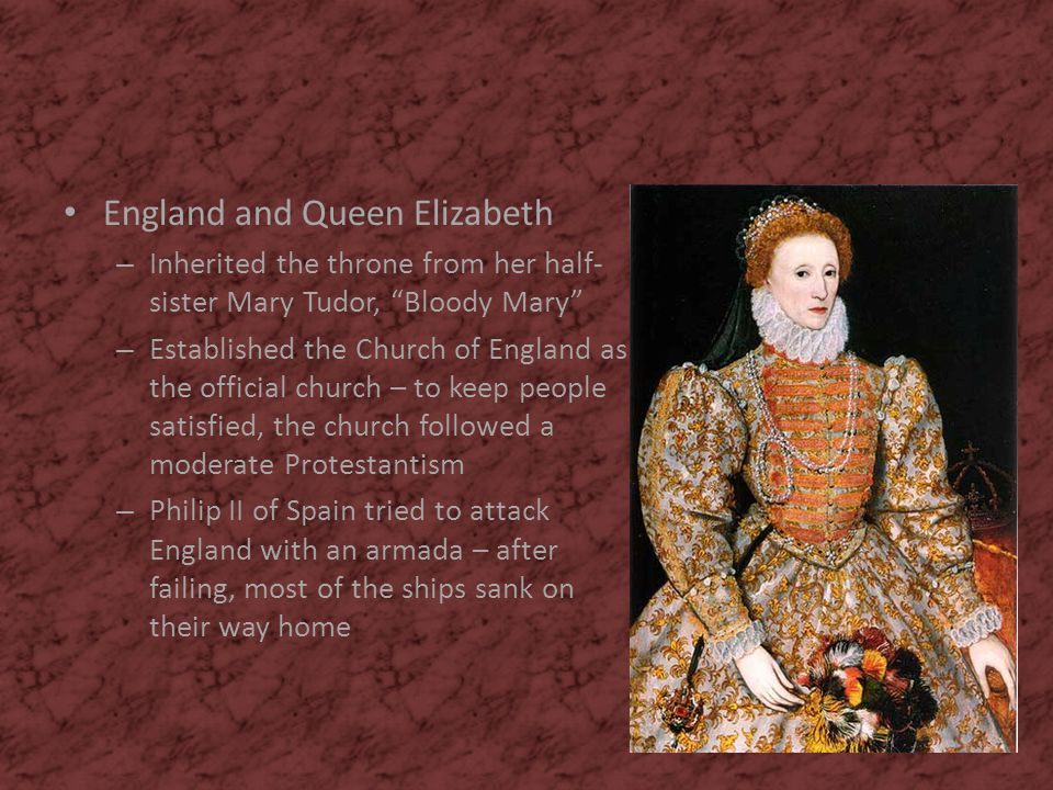England and Queen Elizabeth
