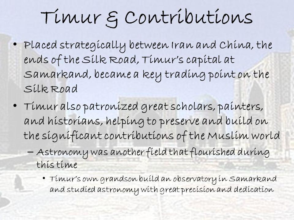 Timur & Contributions