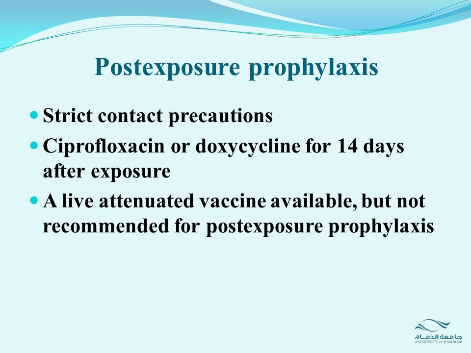 Postexposure prophylaxis