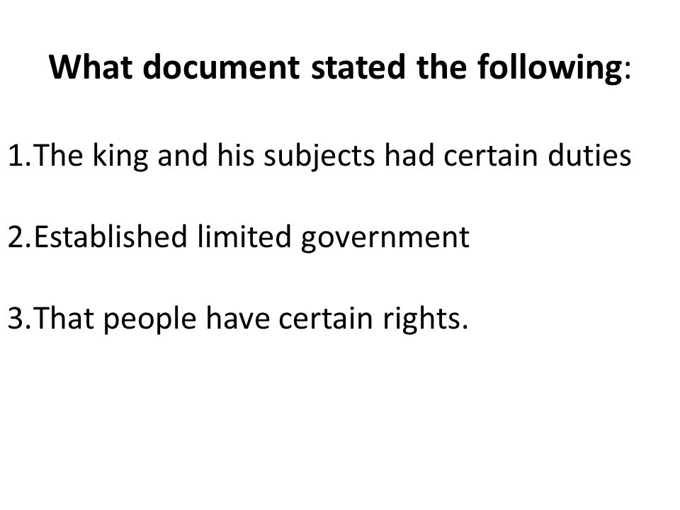 What document stated the following: