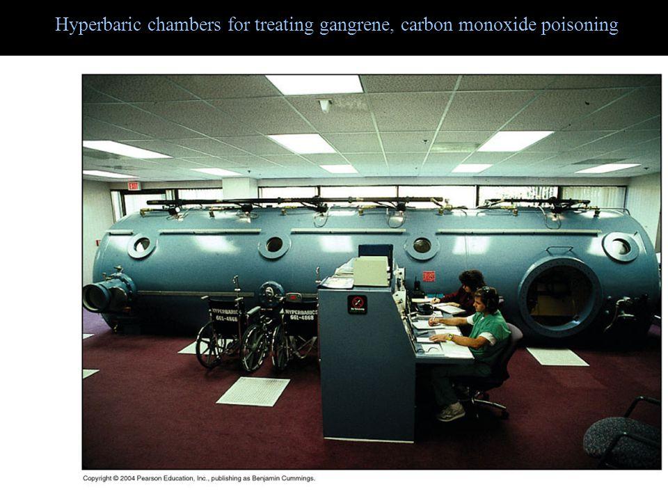Hyperbaric chambers for treating gangrene, carbon monoxide poisoning