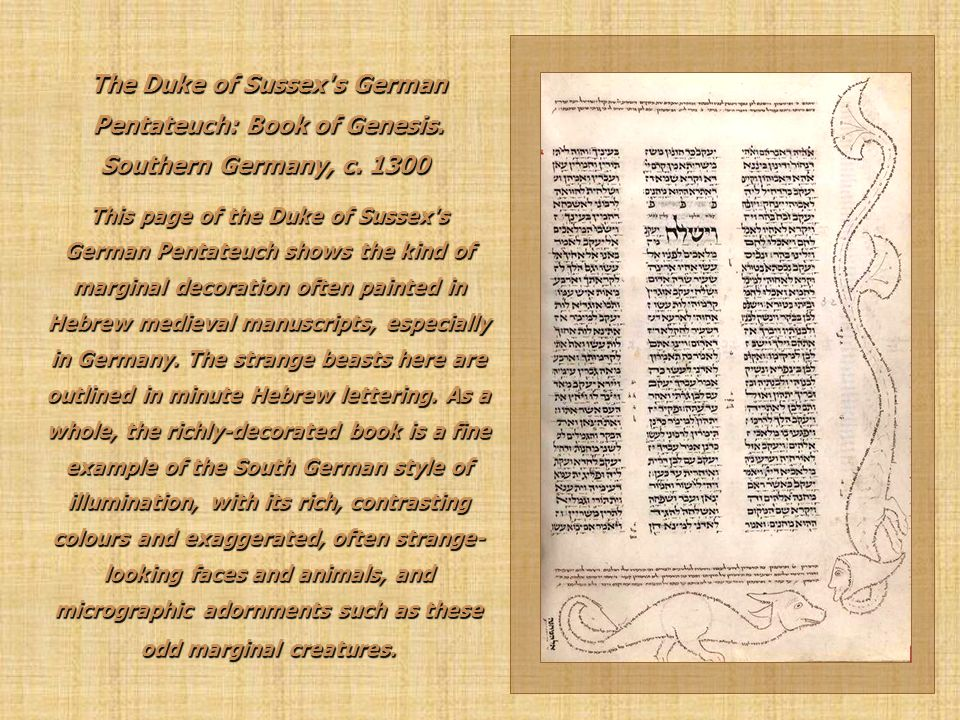 The Duke of Sussex s German Pentateuch: Book of Genesis