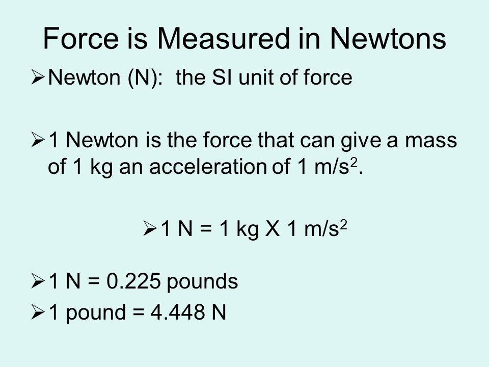 Force is Measured in Newtons