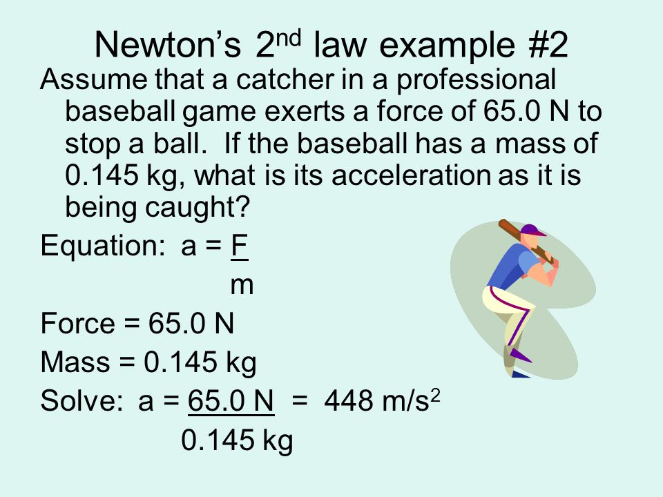 Newton's 2nd law example #2