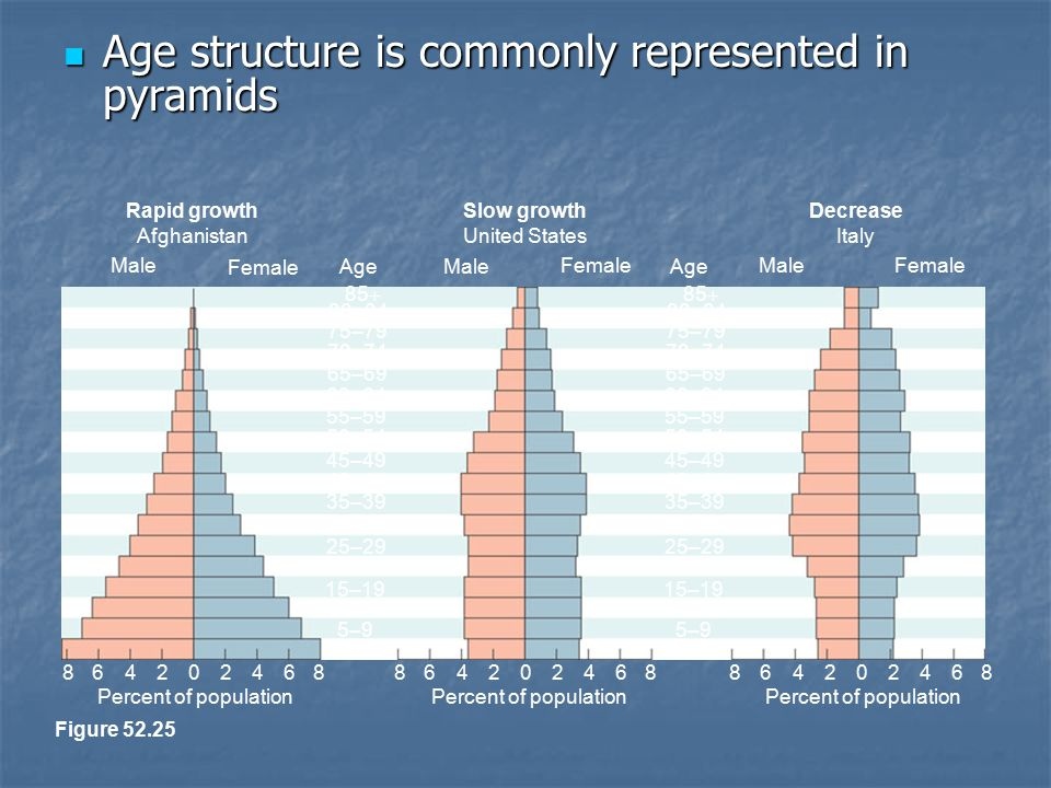 Age structure is commonly represented in pyramids