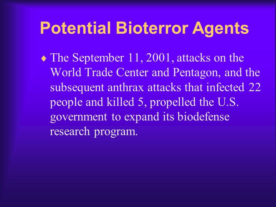 Potential Bioterror Agents
