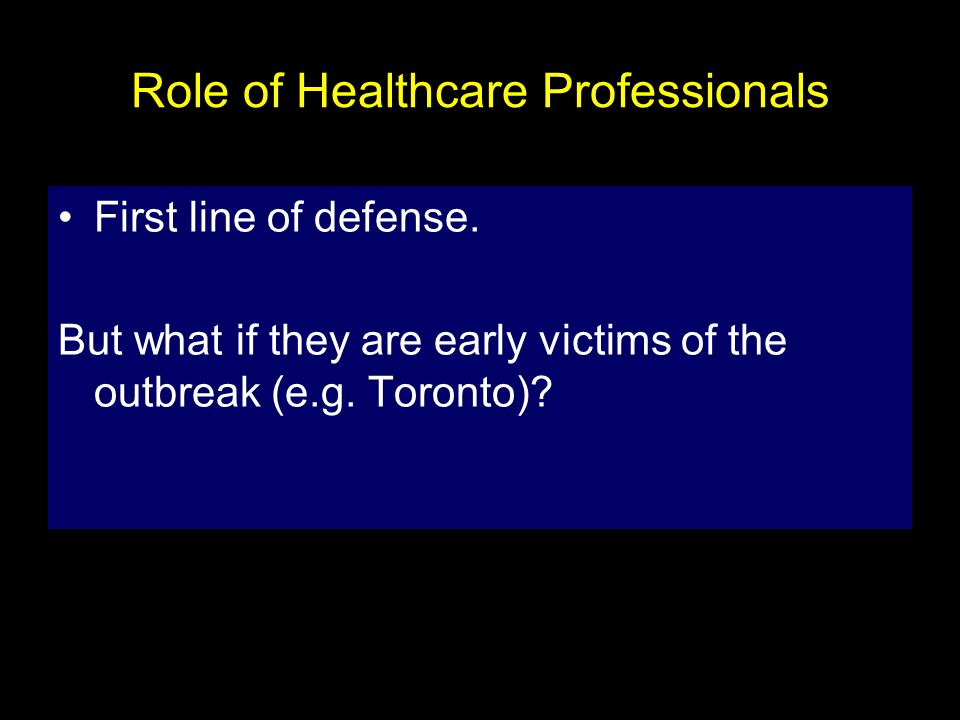 Role of Healthcare Professionals