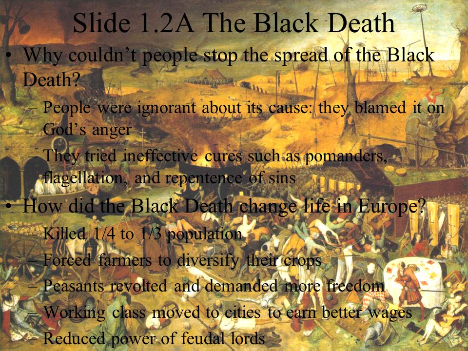 Slide 1.2A The Black Death Why couldn't people stop the spread of the Black Death