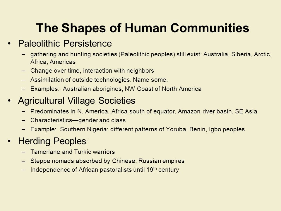 The Shapes of Human Communities