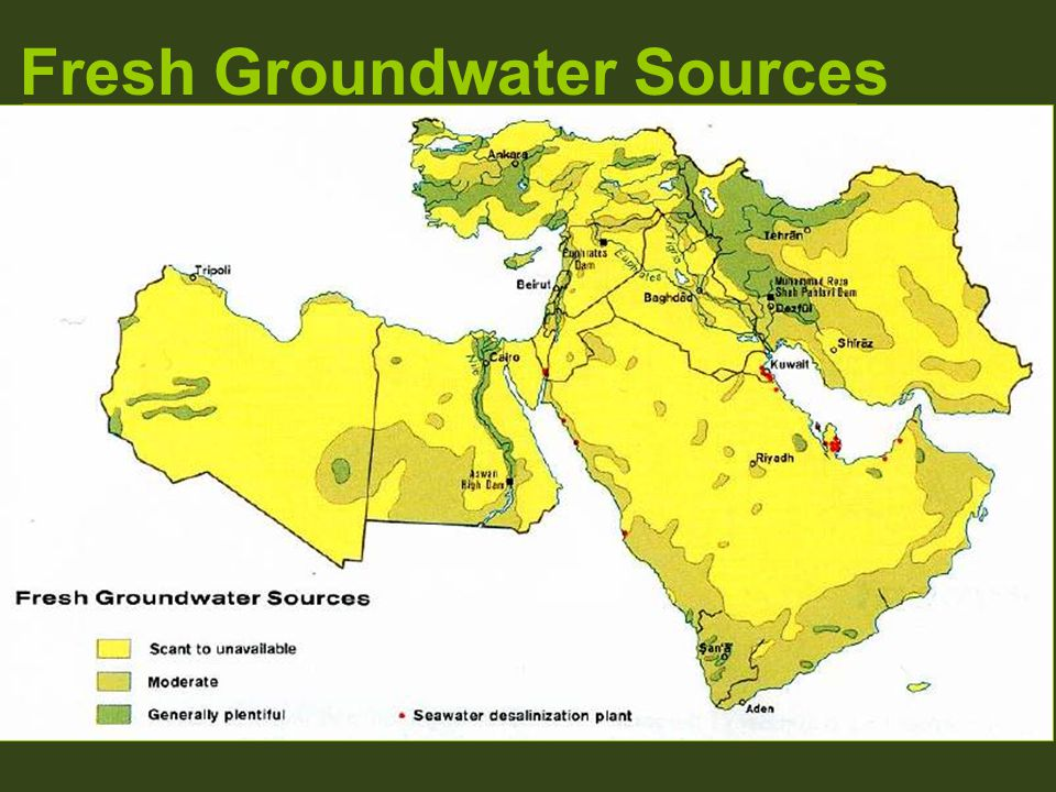 Fresh Groundwater Sources