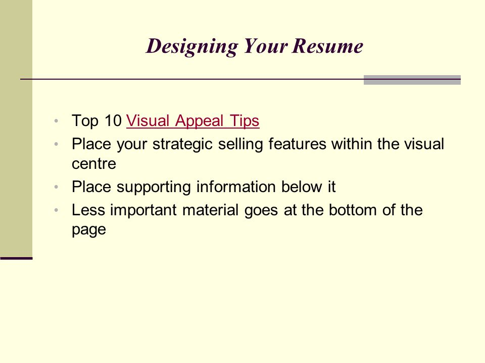 Designing Your Resume Top 10 Visual Appeal Tips