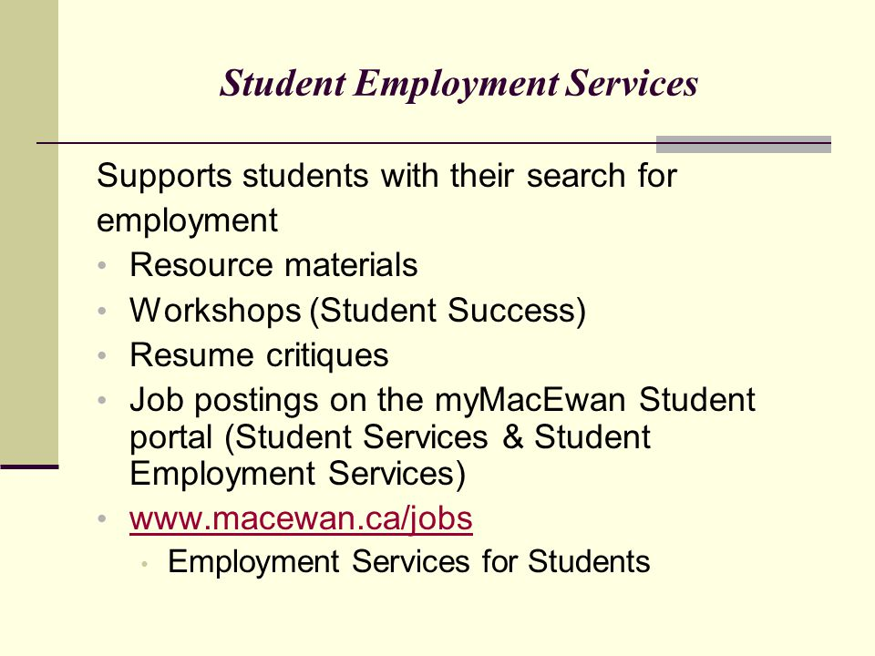Student Employment Services