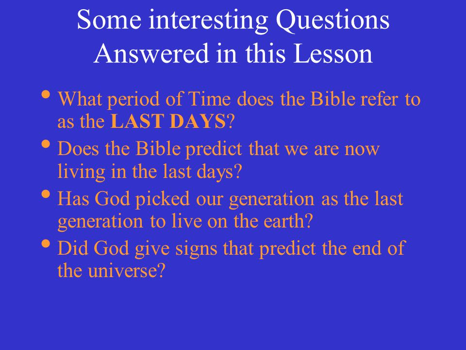 Some interesting Questions Answered in this Lesson