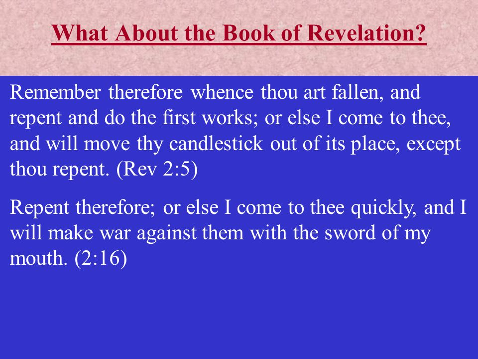 What About the Book of Revelation
