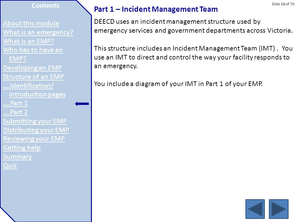 Part 1 – Incident Management Team