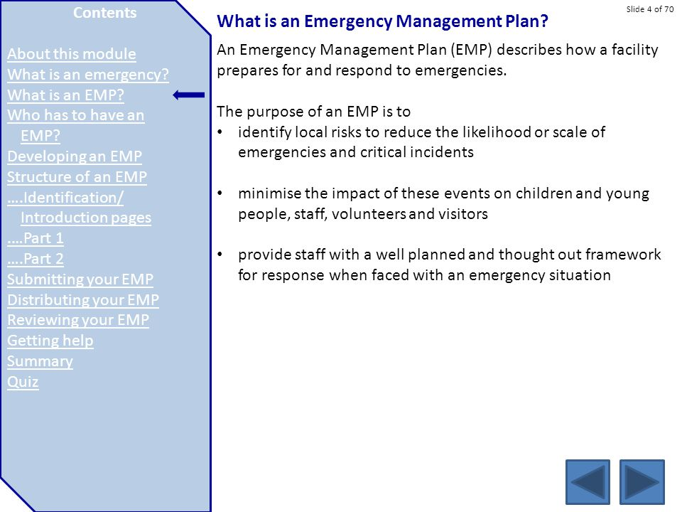 What is an Emergency Management Plan