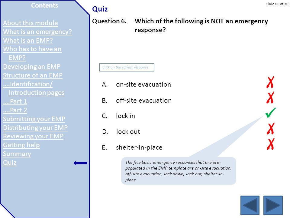 X X  X X Quiz Contents Contents About this module Introduction