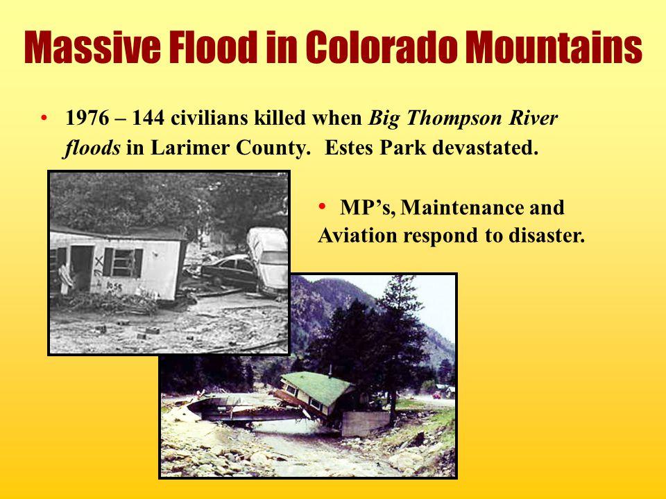 Massive Flood in Colorado Mountains