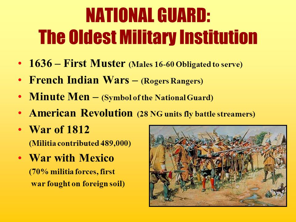 NATIONAL GUARD: The Oldest Military Institution