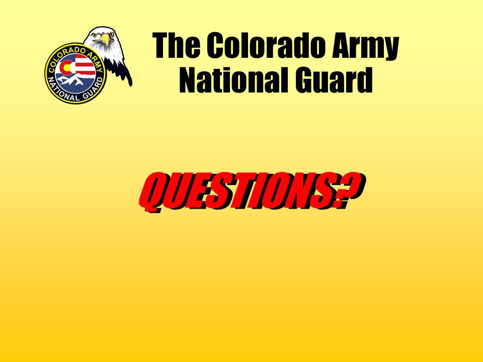The Colorado Army National Guard
