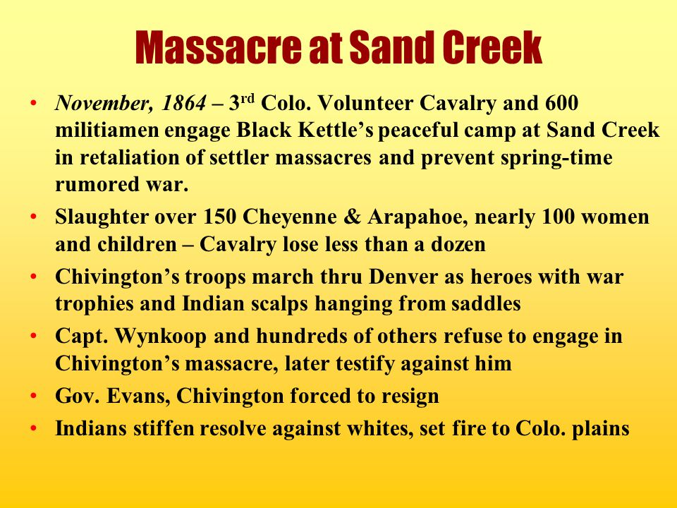Massacre at Sand Creek
