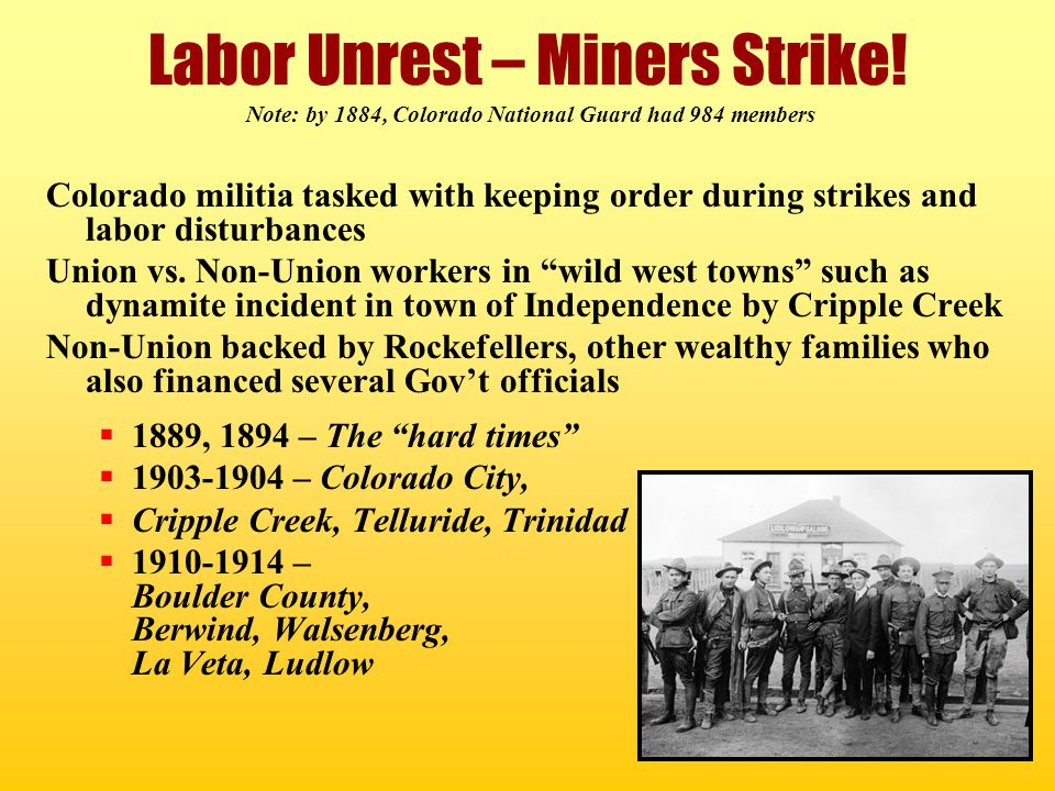 Labor Unrest – Miners Strike